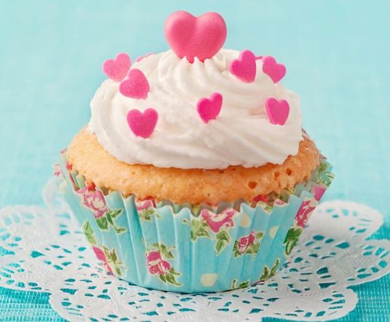 Pink Harts Cupcakes